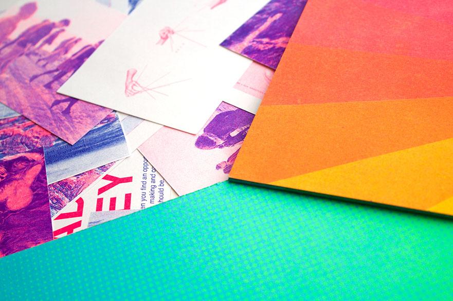 Risograph prints.