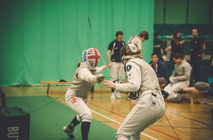 NTU Fencer in action.