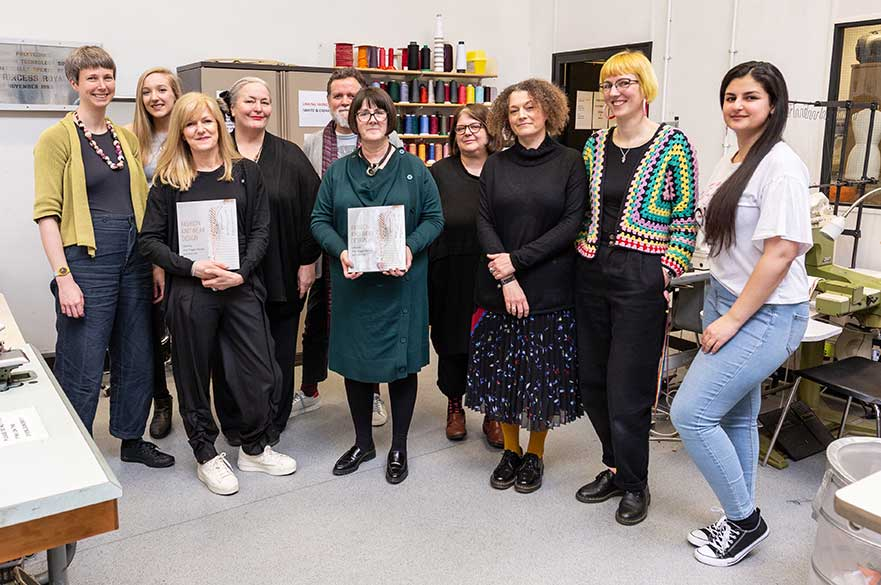 The Fashion Knitwear Design course team and contributing students