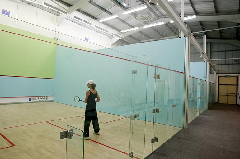 Squash court at the Southwell Leisure Centre